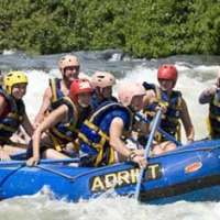 Rafting with the family jinja